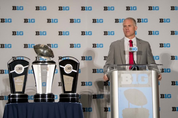 © Reuters. NCAA Football: Big Ten Football Media Day