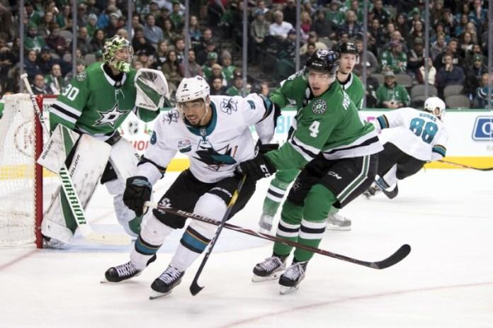 © Reuters. NHL: San Jose Sharks at Dallas Stars