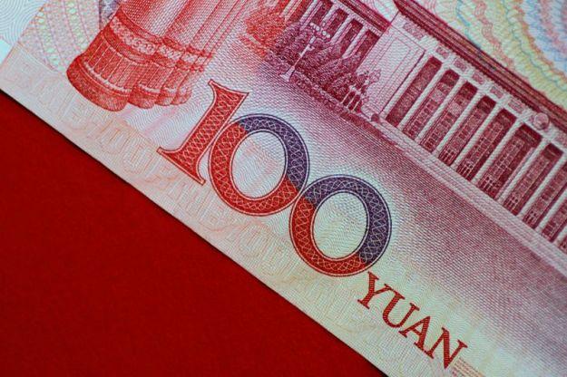 © Reuters. Illustration photo of a China yuan note