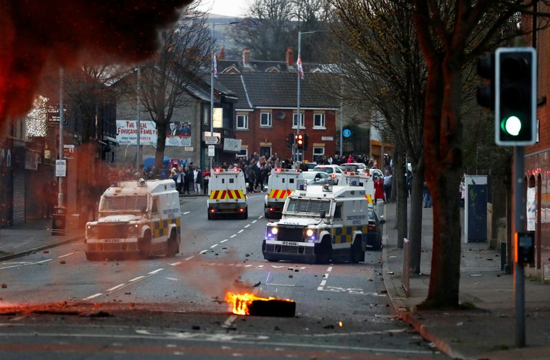 Belfast protesters hijack bus, attack police as violence continues