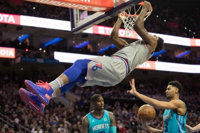 © Reuters. NBA: Charlotte Hornets at Philadelphia 76ers