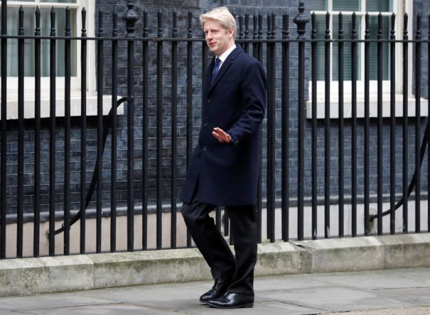 © Reuters. FILE PHOTO: Jo Johnson arrives at 10 Downing Street, London