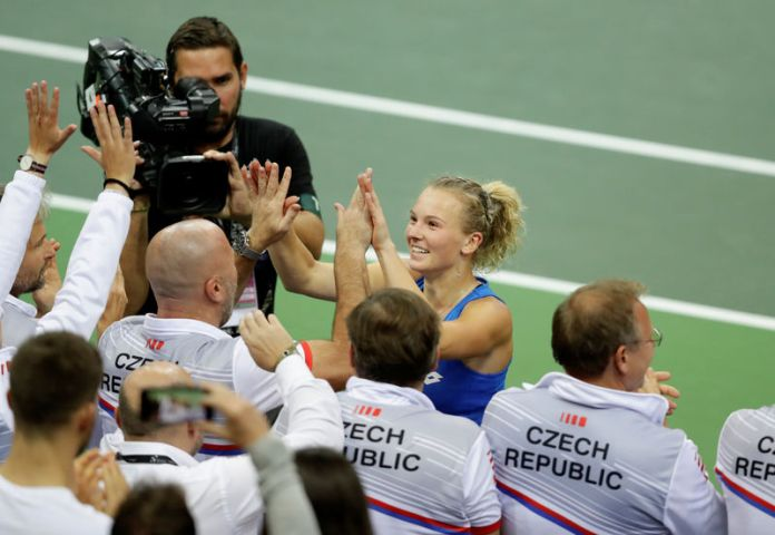 © Reuters. Fed Cup - World Group Final - Czech Republic v United States
