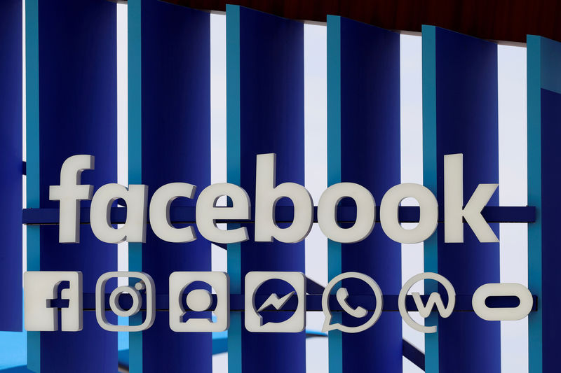 © Reuters. FILE PHOTO: A Facebook panel is seen during the Cannes Lions International Festival of Creativity, in Cannes
