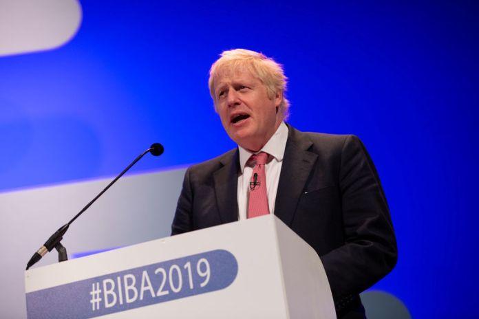 © Reuters. Boris Johnson at the 2019 British Insurance Brokers' Association (BIBA) conference in Manchester