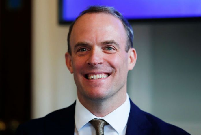 © -. Dominic Raab attends