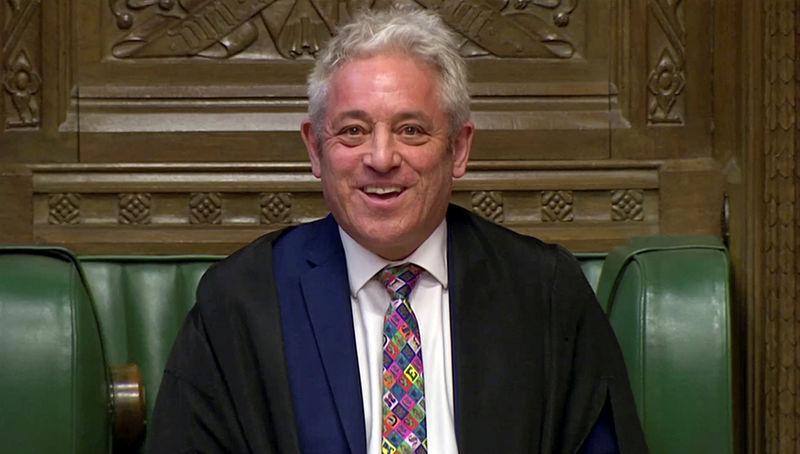 © Reuters. FILE PHOTO: Speaker of the House John Bercow speaks in Parliament in London
