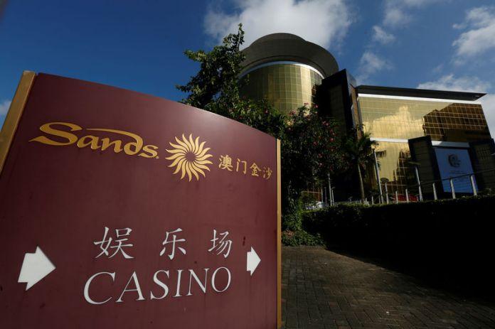 © -. FILE PHOTO: A view of Sands Macao casino in Macau