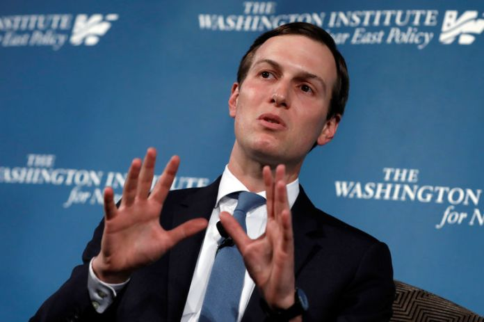 © -. White House senior adviser Jared Kushner attends a discussion at WINEP dinner in Washington
