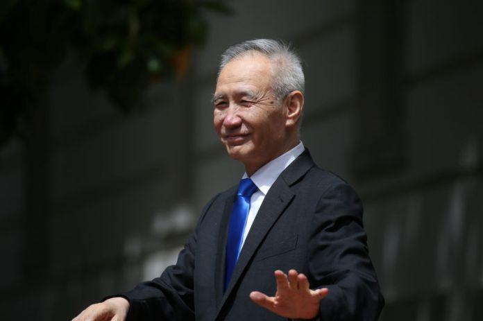 © -. U.S.-China officials hold trade talks at the U.S. Trade Rpresentative's Office in Washington