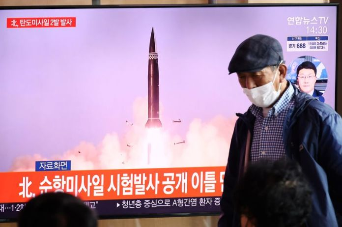 N.Korea says tested new railway-borne missile system to strike 'threatening forces'