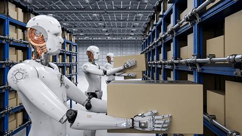 Robot thay thế con người làm những công việc lặp đi lặp lại theo chu kỳ. Ảnh minh họa.