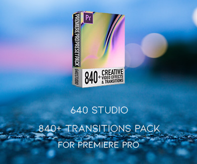 640 Studio - 840+ Transitions Pack For Premiere Pro