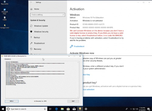 Hwidgen 62.01 - Digital Licence Activator For Windows 10