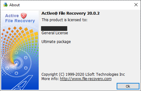 Active File Recovery v20.0.2