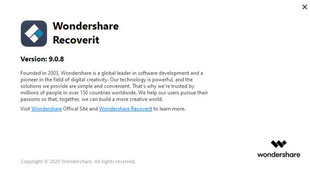 Wondershare Recoverit 9.0.8.10