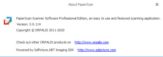 ORPALIS PaperScan Professional 3.0.114