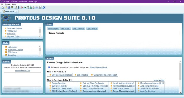 Proteus Professional 8.10 SP3 Build 29560