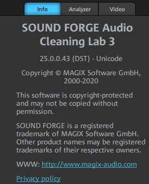 MAGIX SOUND FORGE Audio Cleaning Lab 3 v25.0.0.43