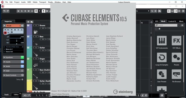 Cubase LE AI Elements 10.5.12
