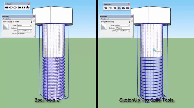 BoolTools for Sketchup