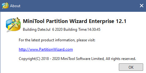 MiniTool Partition Wizard Enterprise 12.1