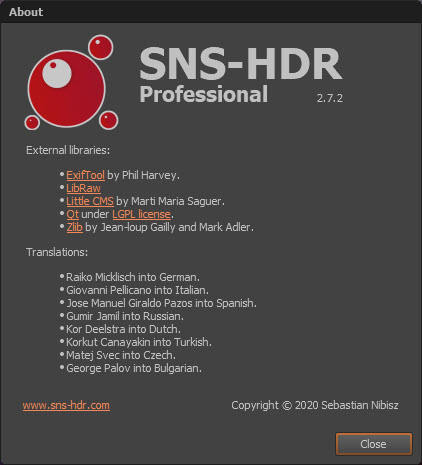 SNS-HDR Professional 2.7.2.1