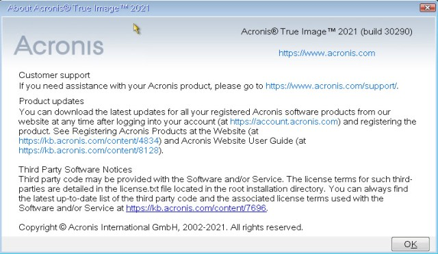 Acronis True Image 2021 Build 30290