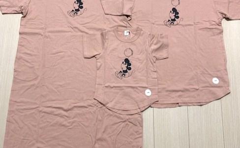 ZOZOで買ったミッキーTシャツ♪親子3人のお揃いコーデでパークインの準備中^^