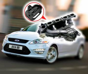 Впускной коллектор и вихревые заслонки Ford Duratec 1.8, 2.0, 2.3, 2.5