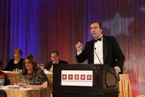 Kevin Benz makes the keynote address, RTDNF First Amendment Awards, 2013