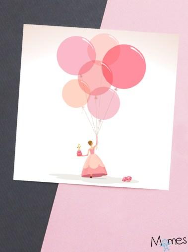 carte anniversaire princesse a imprimer