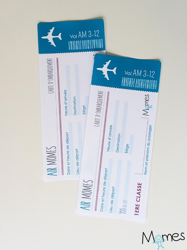 Faux Billet D Avion A Imprimer Momes Net