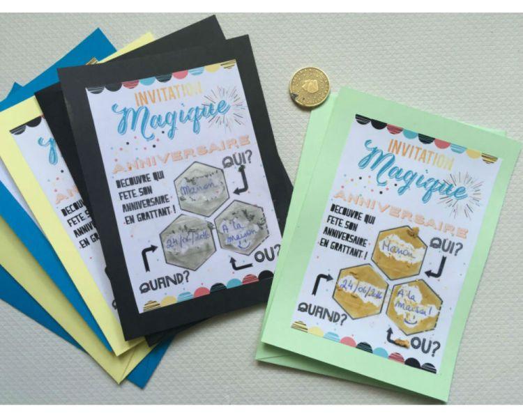 cartons d invitation d anniversaire