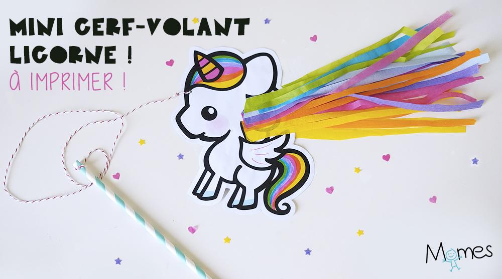 Mini Cerf Volant Licorne A Imprimer Momes Net