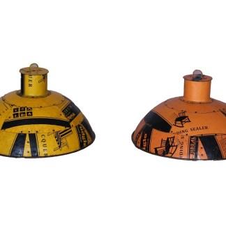 lampenkap metaal geel oranje