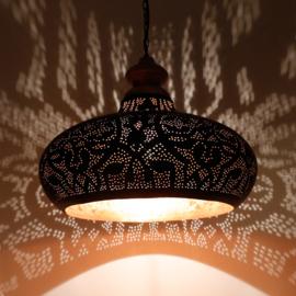 ndia-hanglamp-filigrain-style-zwart-goud-100x100-met-houten-ophang-te-koop-bij-winkel-Indistrieel-in-Middelburg