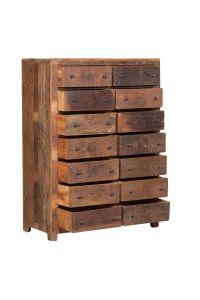 Kast-gerecycled-hout-14-laden te koop bij Indistrieel in Middelburg