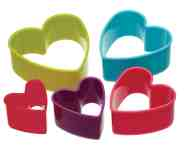 Cookie Cutters Shapes Colourworks Hearts