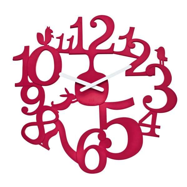 Clock Wall Hang Koziol Design Raspberry Red