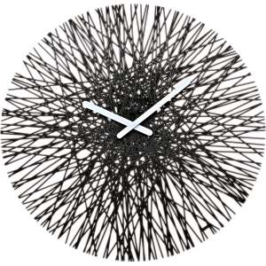 Clock Wall Hang Koziol Design SILK Anthracite