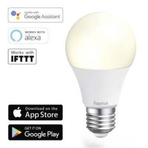 LED Bulb Smart Home WiFi HAMA E27  White