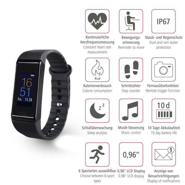 Fit Tracker HAMA Pulse Heart Sleep Sport