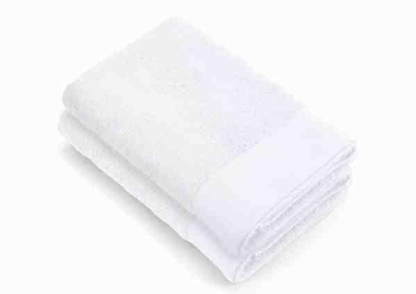 Shower Towel Large Soft Cotton Walra White