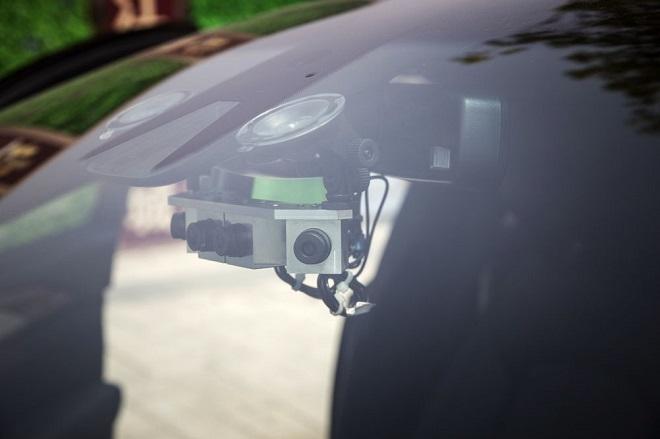 Hệ thống camera cho xe tự lái sản xuất bởi SenseTime. Nguồn: Qilai Shen/Bloomberg