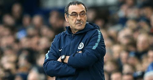 Sarri trải qua mùa giải nhiều biến động ở Chelsea. Ảnh:AFP.