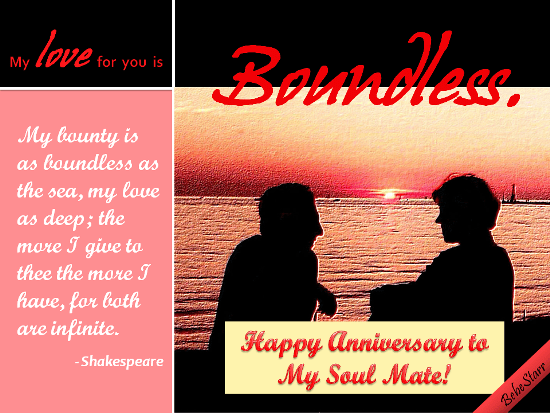 My Love For You Is Boundless Free Happy Anniversary ECards 123 Greetings