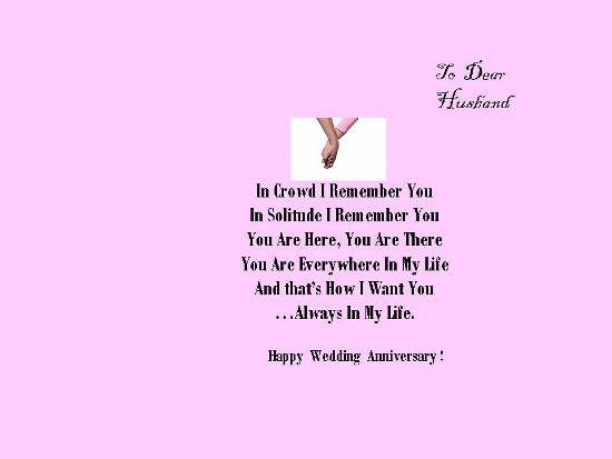 Happy Wedding Anniversary To Hubby Free For Him ECards Greeting Cards 123 Greetings