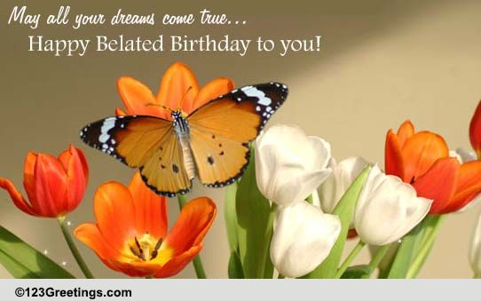 Wishing You Happiness And Joy Free Belated Birthday Wishes ECards 123 Greetings