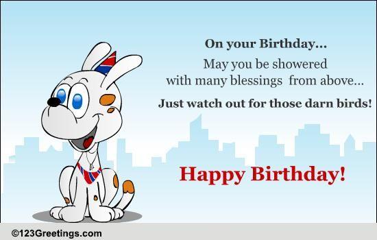 Fun Birthday Blessings Free Birthday Blessings ECards Greeting Cards 123 Greetings